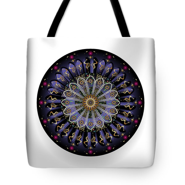 Tote Bag featuring the digital art Circulosity No 3447 by Alan Bennington
