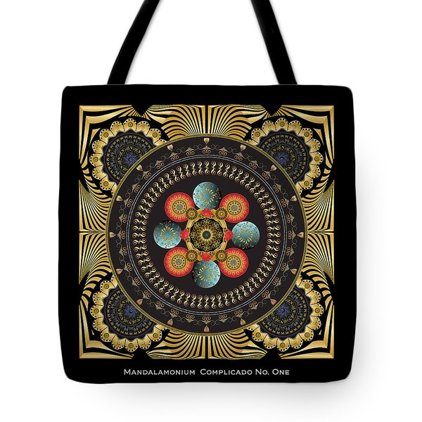 Tote Bag featuring the digital art Circulosity No 3448 by Alan Bennington