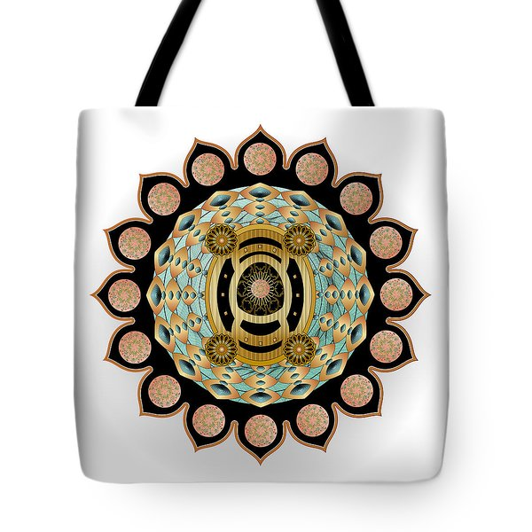 Tote Bag featuring the digital art Circulosity No 3450 by Alan Bennington