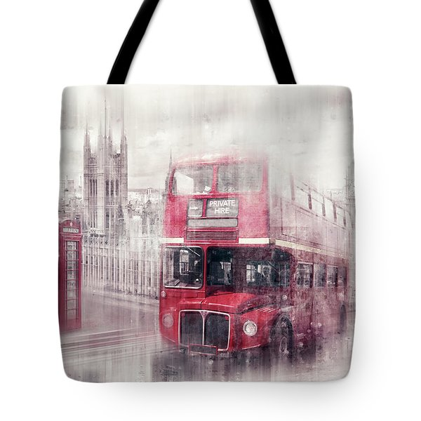 City-art London Westminster Collage II Tote Bag