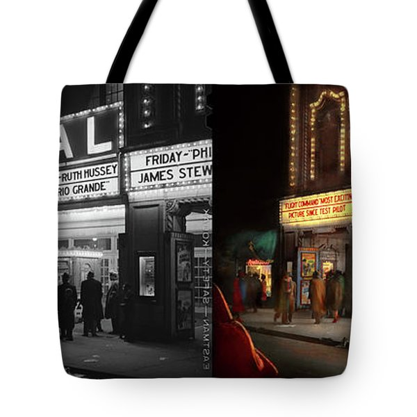Tote Bag featuring the photograph City - Chicago Il - Nightlife At The Regal Theater 1941 - Side By Side by Mike Savad
