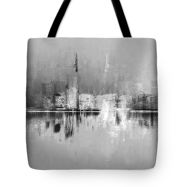 Tote Bag featuring the digital art City In Black by David Manlove