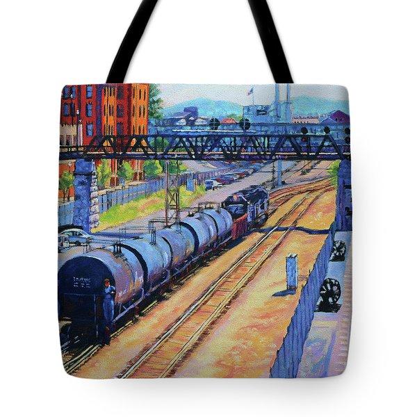 City Lines - Norfolk Southern Tracks In Roanoke Virginia Tote Bag