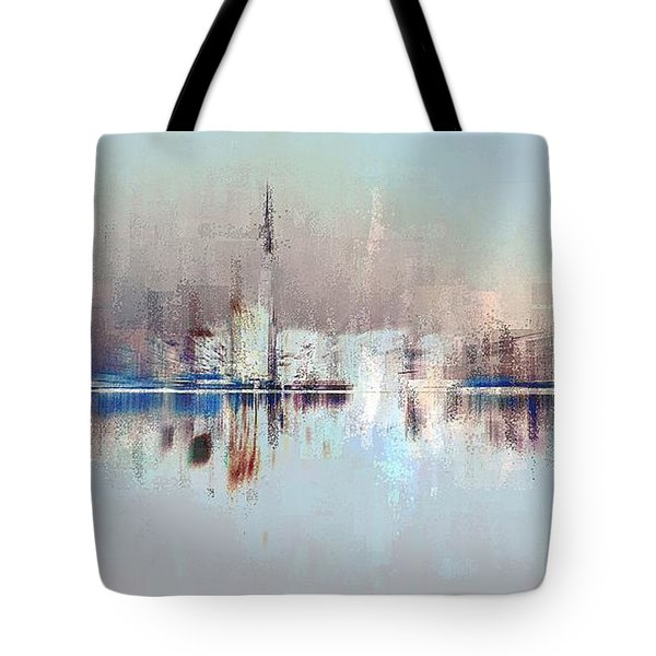 Tote Bag featuring the digital art City Of Pastels by David Manlove