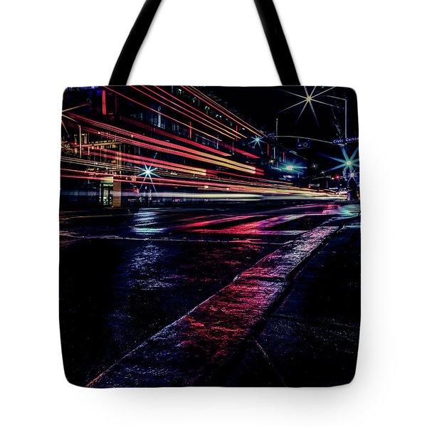 City Streaks Tote Bag