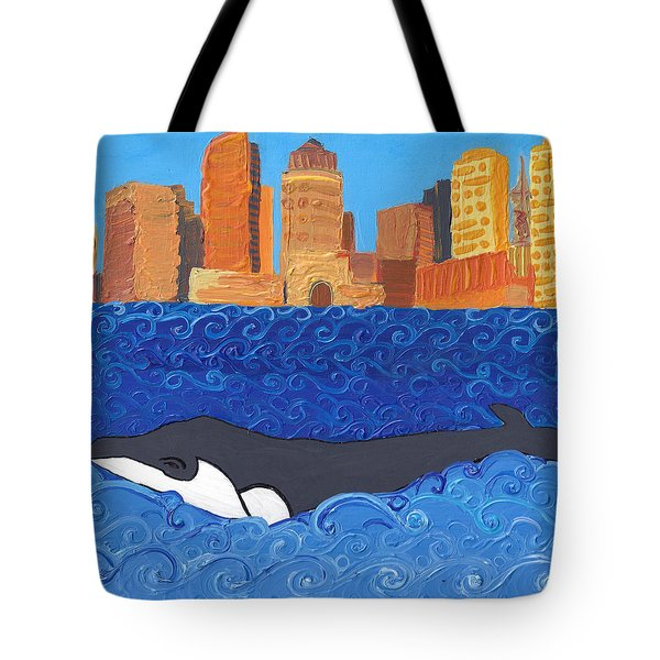 City Whale Tote Bag