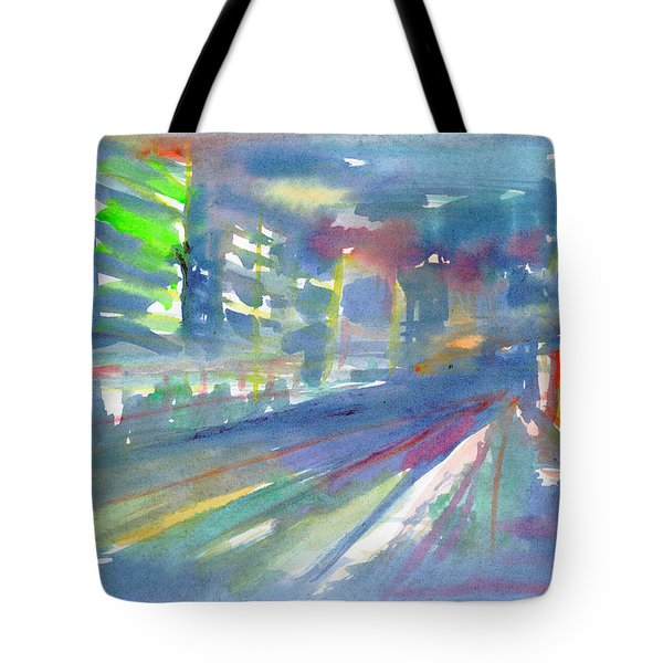 Tote Bag featuring the painting Cityscape 2 by Dobrotsvet Art
