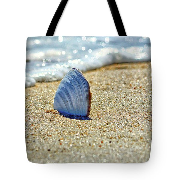 Tote Bag featuring the photograph Clamshell On The Beach At Assateague Island by Bill Swartwout Fine Art Photography