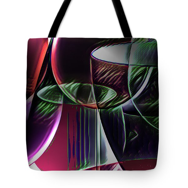 Claret Abstract Tote Bag
