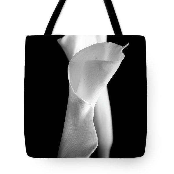 Classic Calla Lilies-bw Tote Bag
