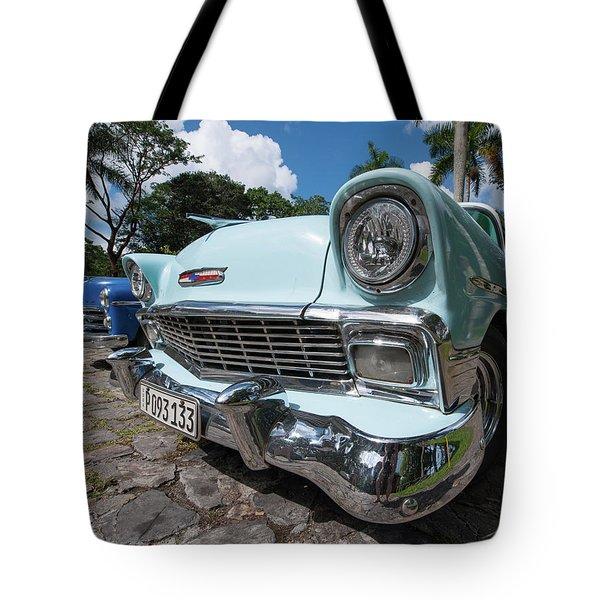 Classic Cuban Chevy Tote Bag