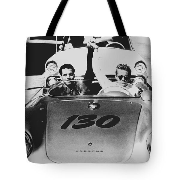 Classic James Dean Porsche Photo Tote Bag
