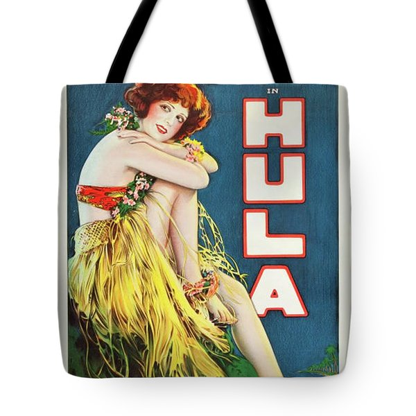 Classic Movie Poster - Clara Bow In Hula Tote Bag