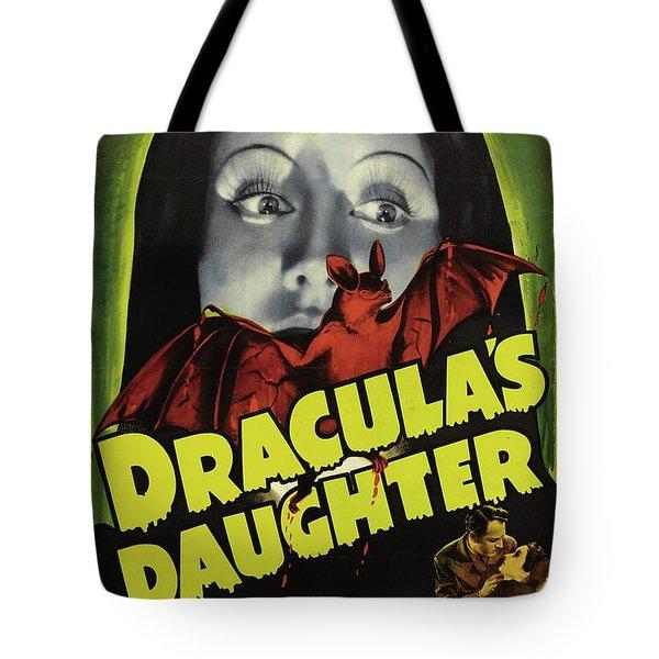 Classic Movie Poster - Draculas Daughter Tote Bag