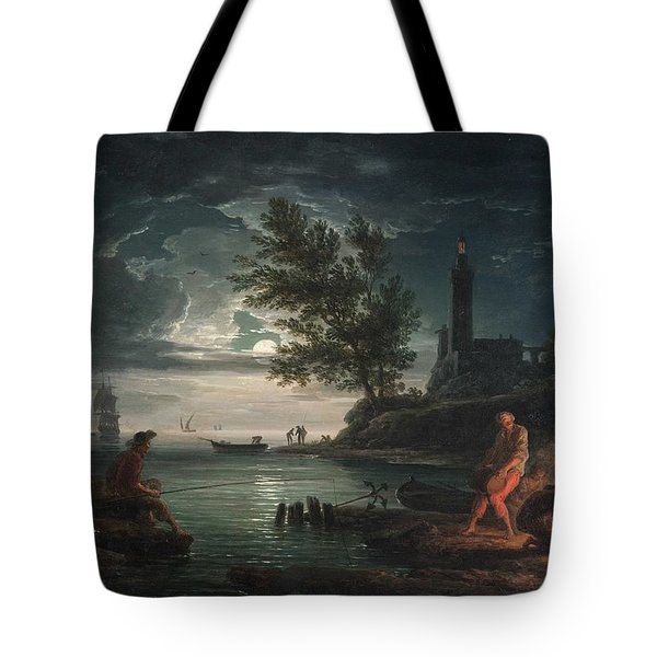 Claude-joseph Vernet - The Four Times Of Day- Night Tote Bag