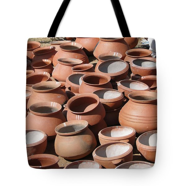 Clay Pots  For Sale In Chatikona  Tote Bag