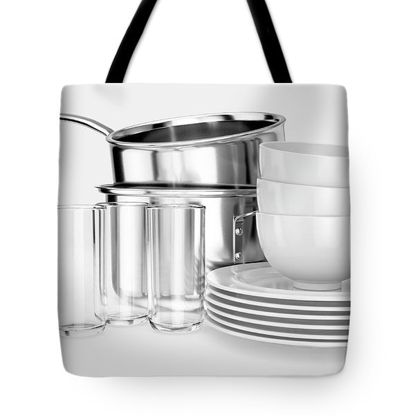 Clean Dishware Stack Tote Bag