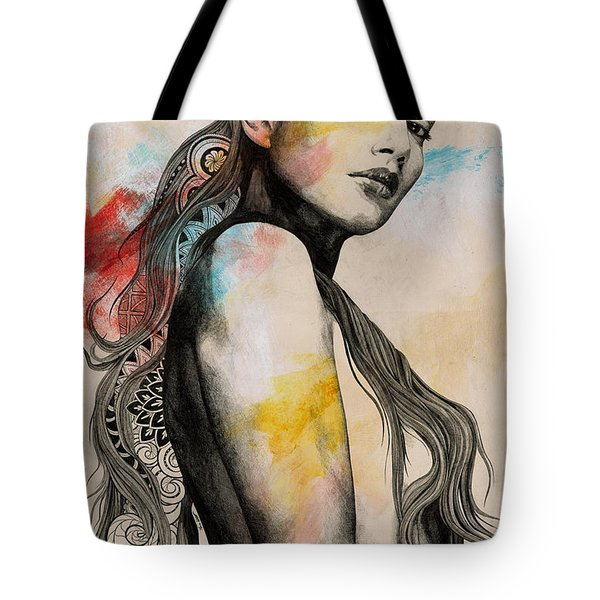 Cleansing Undertones - Zentangle Nude Girl Drawing Tote Bag