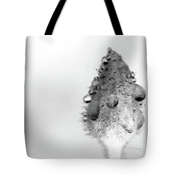Clematis Bud In Rain Tote Bag