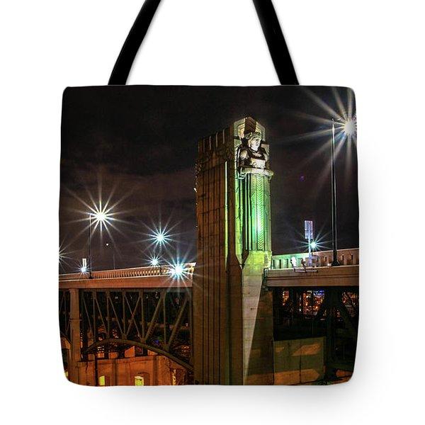 Cleveland Lights  Tote Bag