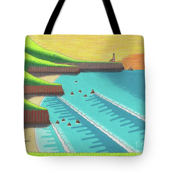 Tote Bag featuring the photograph Cliffside Sunset  by John Wiegand