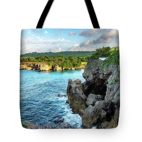 Cliffside Views Portland Jamaica Tote Bag