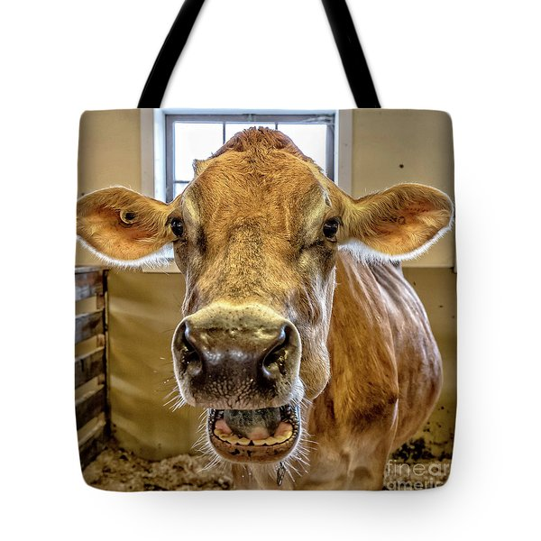 Close Up Of A Jersey Dairy Cow Tote Bag