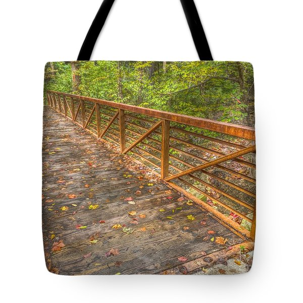 Close Up Of Bridge At Pine Quarry Park Tote Bag