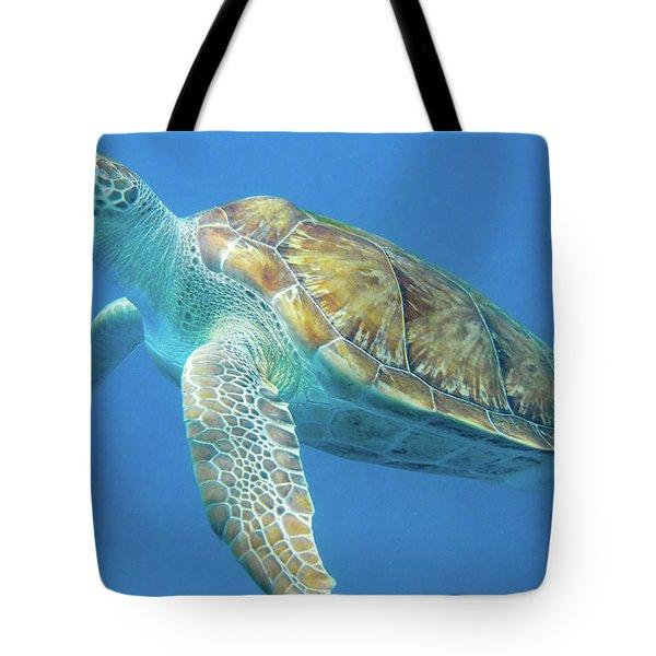 Close Up Sea Turtle Tote Bag