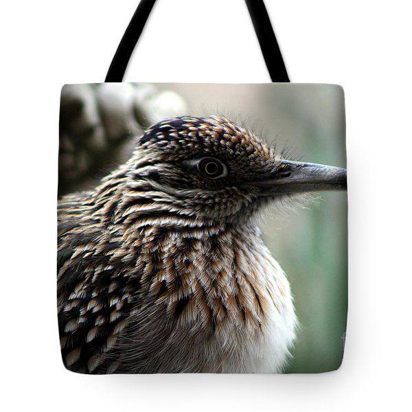 Closeup Of Road Runner By Dragon In Palm Desert Tote Bag