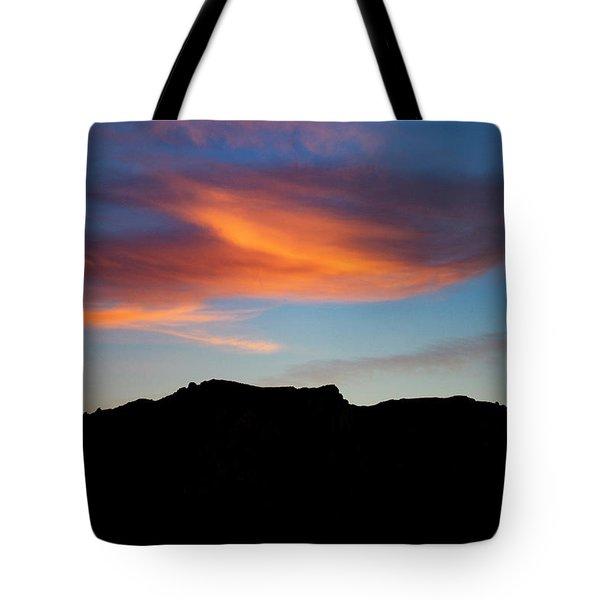 Cloud Over Mt. Boney Tote Bag