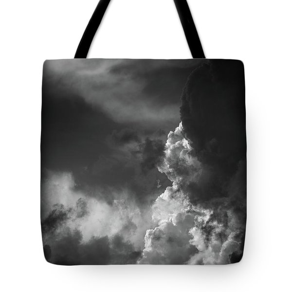 Tote Bag featuring the photograph Clouds 6 In Black And White by Greg Mimbs