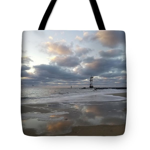 Cloud's Reflections At The Inlet Tote Bag