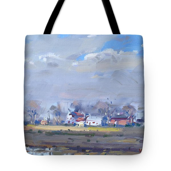 Cloudy Day At The Farm Tote Bag