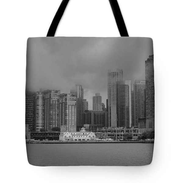 Cloudy Skyline Tote Bag