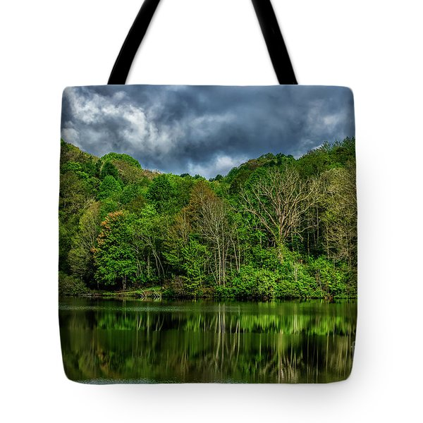 Cloudy Spring Morning Tote Bag