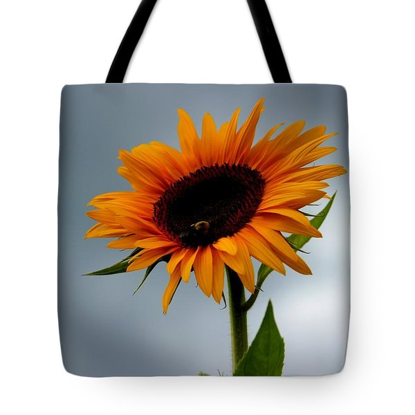 Cloudy Sunflower Tote Bag
