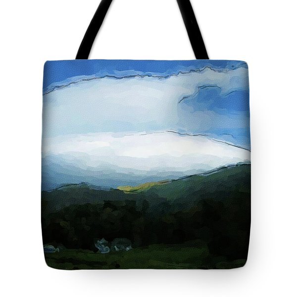 Cloudy View Painting Tote Bag