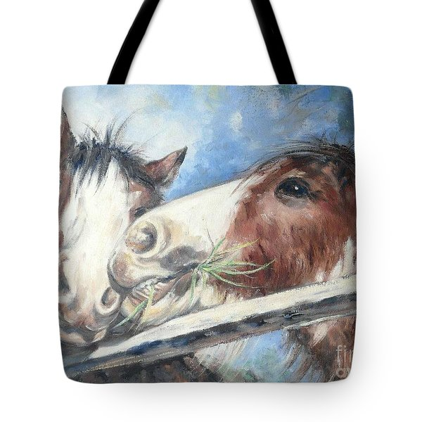 Clydesdale Pair Tote Bag