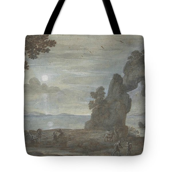 Coast View With Perseus And The Origin Of Coral Tote Bag