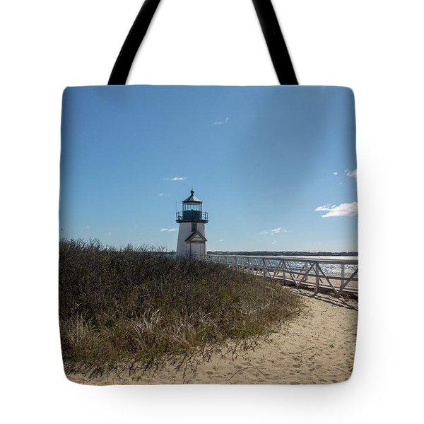 Coastal Brant Light House Tote Bag