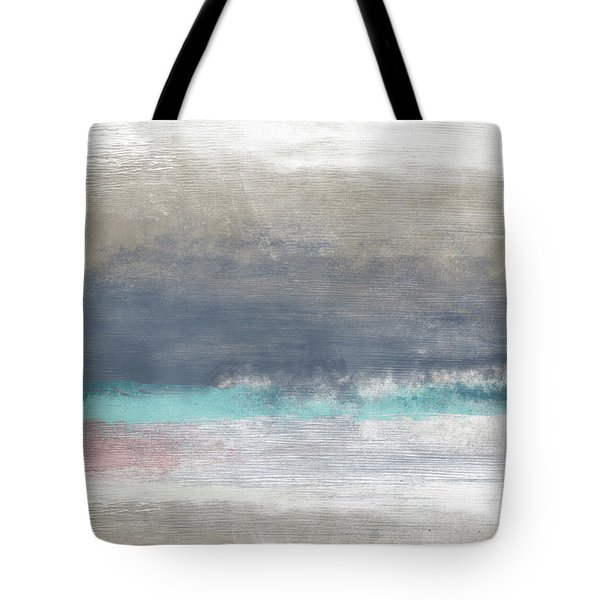Tote Bag featuring the mixed media Coastal Escape Landscape -abstract Art By Linda Woods by Linda Woods
