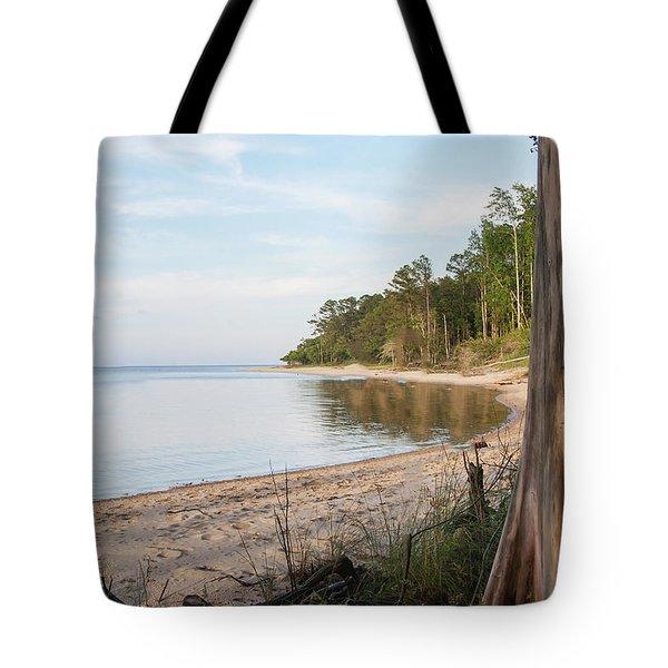 Coastal River Scene Tote Bag