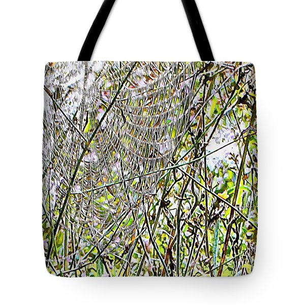 Tote Bag featuring the photograph Cobweb Study 5 by Dorothy Berry-Lound