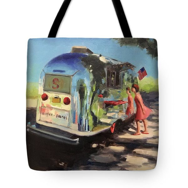 Coffee In The Shade Tote Bag