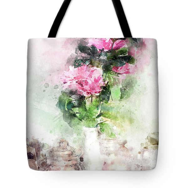 Coffee Shop In Florence Tote Bag