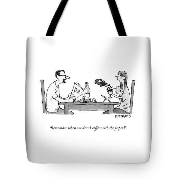 Coffee With The Paper Tote Bag