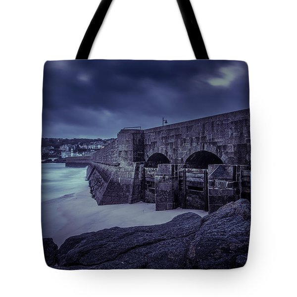Cold Mood On The Pier Tote Bag