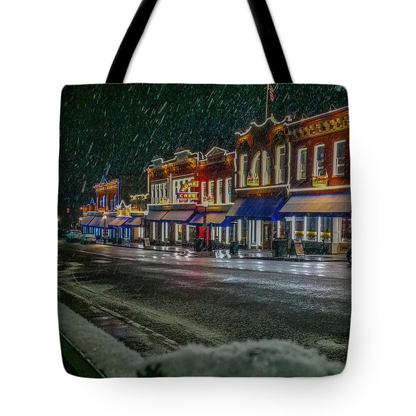 Cold Night In Cripple Creek Tote Bag