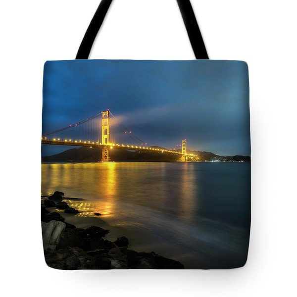 Tote Bag featuring the photograph Cold Night- by JD Mims